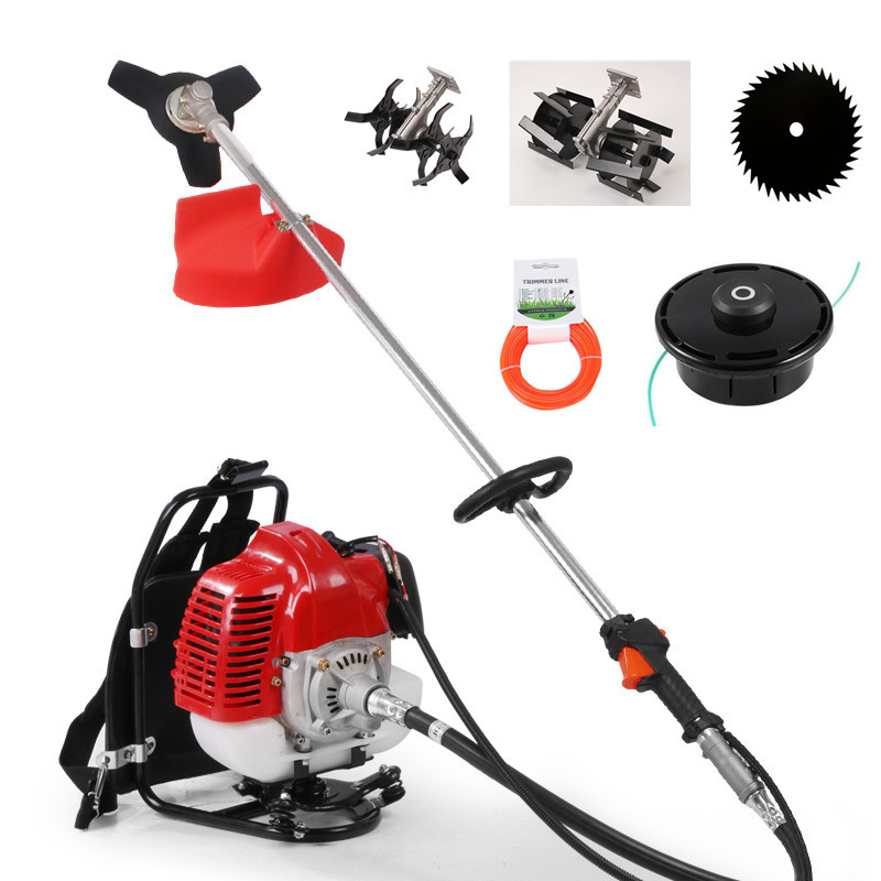 Dependable 2019 New High Quality Petrol Backpack Brush Cutter Grass Cutter With 52cc Petrol 2 Stroke Engine Multi Brush Trimmer Strimmer Goods Of Every Description Are Available Garden Tools Garden Power Tools