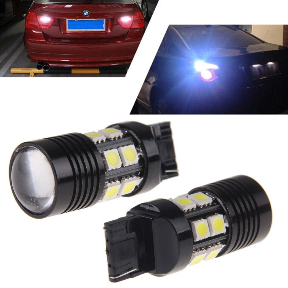 Hot Sales 1Pcs White 7440 992A W21W 12SMD High brightness LED Bulbs Backup Reverse Lights 10W T20 Car accessories ...