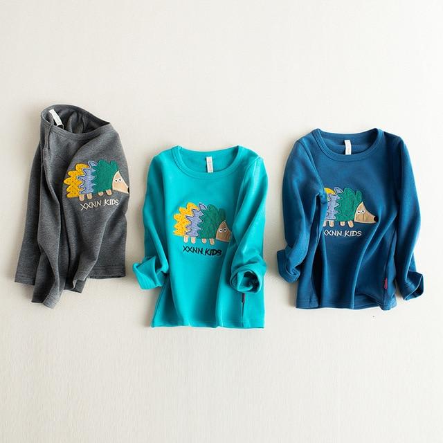 Детские мальчики футболки весна осень мультфильм ежик дети одежда дети с длинным рукавом рубашки марка vestidos infantil девушки тройники