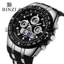 BINZI Brand Sport Wrist Watch Men's Military Waterproof Watches Fashion Silicone Digital Watch Men Wristwatches Clock Male