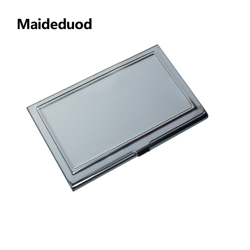 Maideduod New Women And Men Business ID Name aluminium metal credit card Holder Fashion  ...