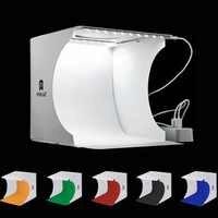 Двойной светодиодный складной портативный фотобокс с панелями для видеосъемки, освещение для студийной съемки, набор тентов, софтбокс Emart ...