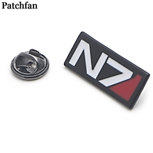 Mass effect Zinc alloy tie pins badges para shirt bag clothes cap backpack shoes brooches medals decorations A2066