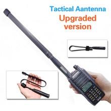 Armee Spiel Faltbare Taktische Outdoor Sports Dual Band VHF/UHF 144/430MHz Antenne Für Baofeng UV XR UV 9R plus UV9R