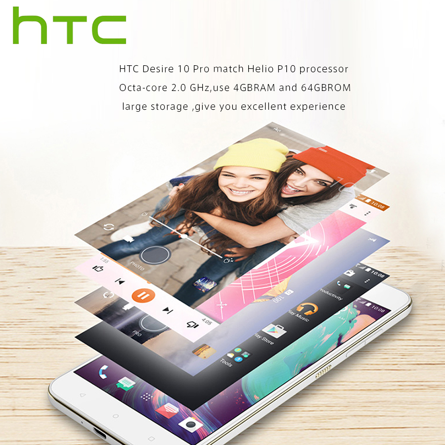 """Image 2 - Spain Delivery Original NEW HTC Desire 10 Pro 4GB 64GB 4G LTE Mobile Phone 5.5""""Octa Core Dual SIM 20MP 3000mAh Android Callphone-in Cellphones from Cellphones & Telecommunications"""