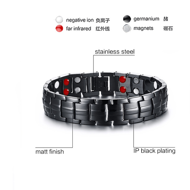 Punk Healthy Energy Bracelet-Black