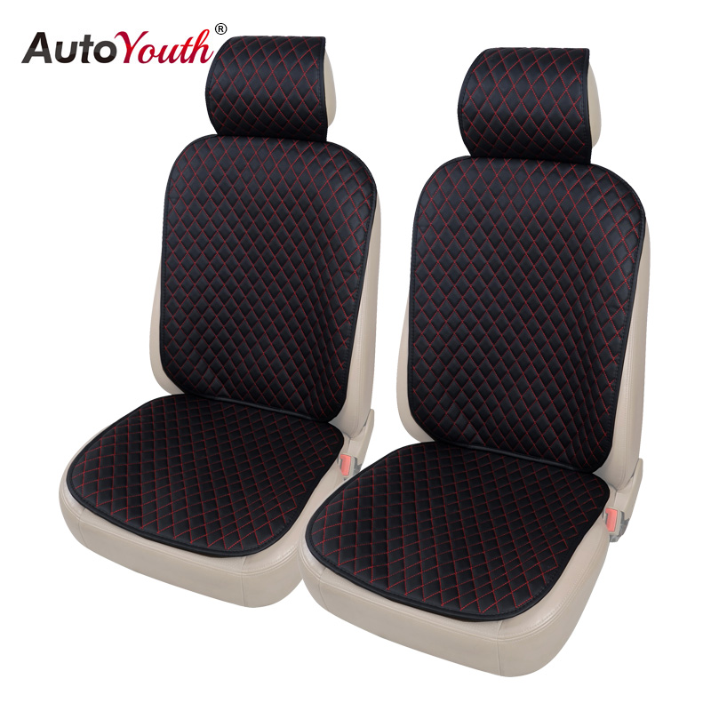 AUTOYOUTH PU Leather Front Seat Cover Universal Fit for Toyota Honda kia ford nissan Seat Covers Car Seat Protector Red цены онлайн
