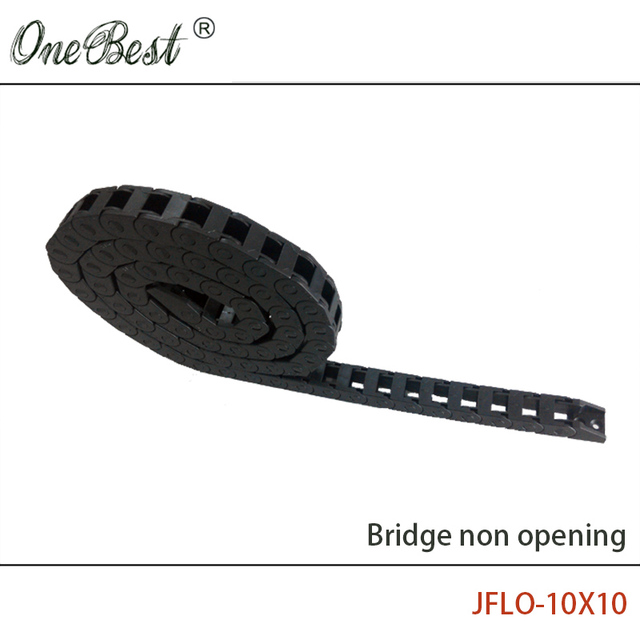 JFLO 1 Meter 10x10mm Wire Carrier cable Drag chain Bridge non opening type Towline protection Tanks chain with end connectors