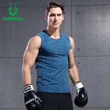 Mens compression shirt Singlets Sleeveless fitness men vest Bodybuilding t running tank tops