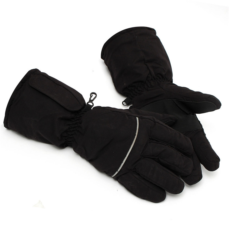 Black Heated Gloves Battery Powered For Motorcycle Hunting Winter Warmer Outdoor Skiing GloveChina