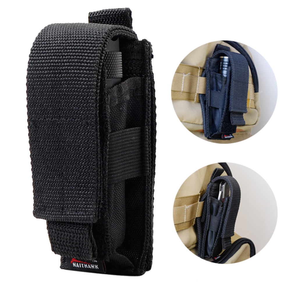 Tactical Flashlight Holster Adjustable Knife Belt Molle Pouch Magazine Holster Easy Carrying Cartridge Clip Tool Pouch Sheath