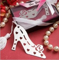 100PCS LOT Wedding Favor Party Gift Of Star High Shoe Bookmark With Tassel Festival Christmas Gift