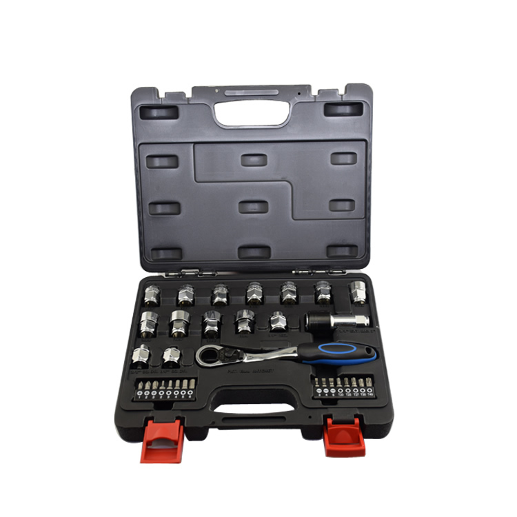 high quality  32pcs ring ratchet spanner ratchet wrench set S2 material bits socket metric 8-19mm Inch  Auto Repair  hand tools jetech 15pcs 1 2 dr metric socket wrench set with ratchet extention bar 5 inch kit ferramenta car tool sets lifetime guarantee