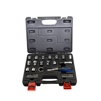 high quality 32pcs ring ratchet spanner ratchet wrench set S2 material bits socket metric 8 19mm Inch Auto Repair hand tools