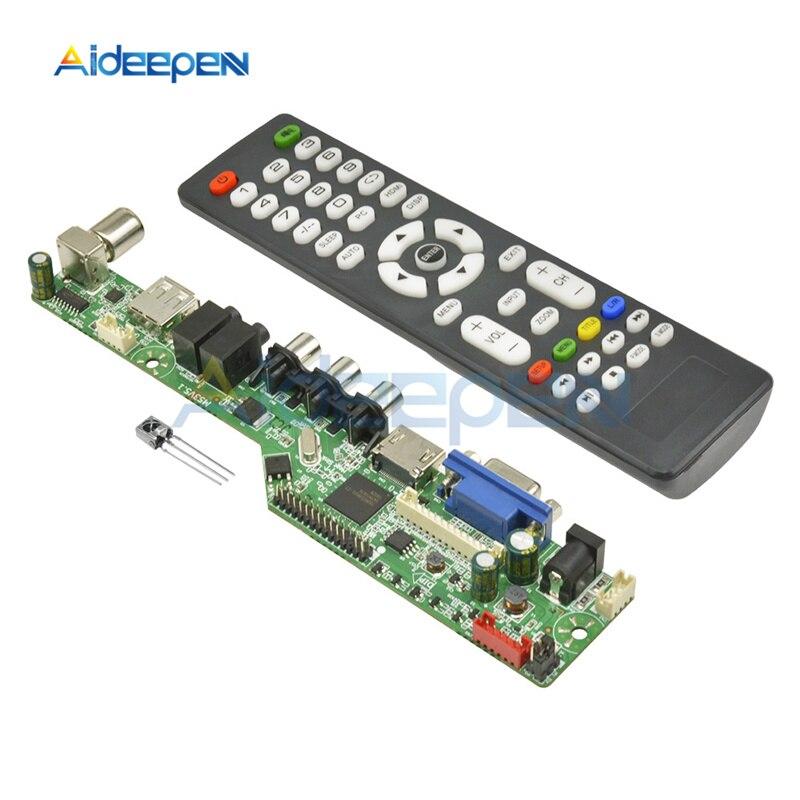 Universal LCD Controller Board Resolution TV Motherboard VGA/HDMI/AV/TV/USB HDMI Interface Driver Board 3.3V / 5V / 12V