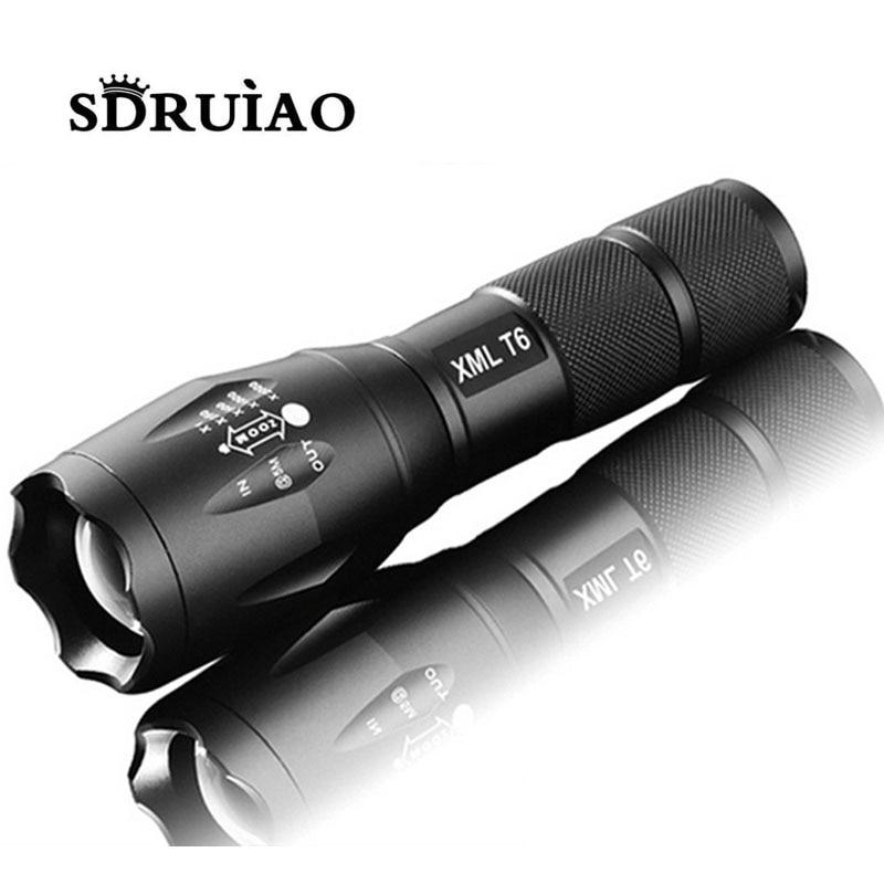 100 Authentic E17 6000 Lumens 5 Mode CREE XM L T6 LED font b Flashlight b