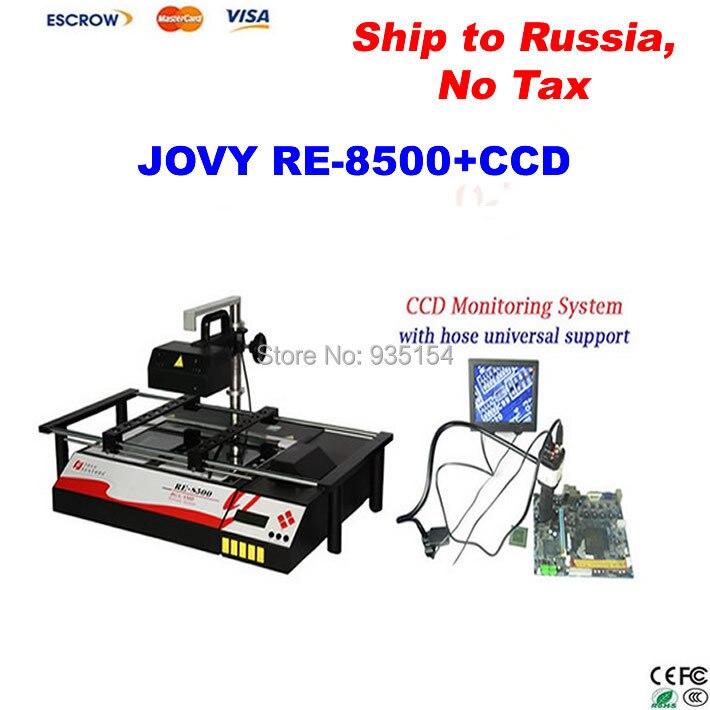 Original Jovy BGA Reballing Machine RE8500 BGA rework machine +CCD camera with 8 monitor, No tax to Russia!