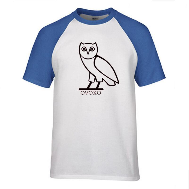 New font b Men s b font Fashion Short sleeve Skateboard Street OWL T font b