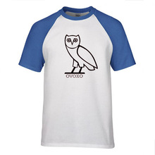 New Men's Fashion Short sleeve Skateboard Street OWL T Shirt Tops Cotton