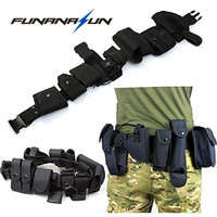 Tactical Security Police Guard Utility Kit Duty Belt 10 In1 Outdoor Multifunctional Tactical Nylon Waist Belt