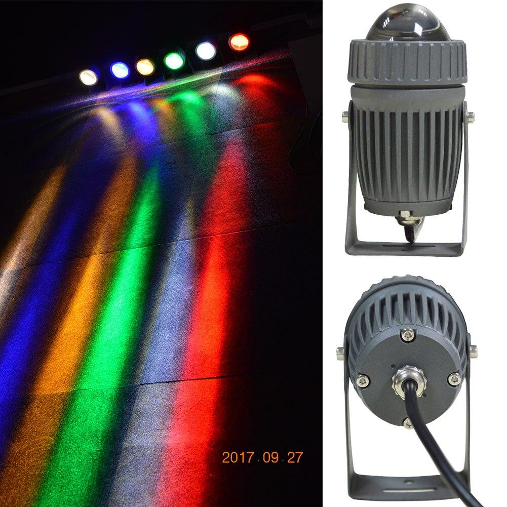 Cree uzun aydınlatma led peyzaj su geçirmez açık alan aydınlatması 10 W led bahçe lambası 12 V 110 V 220 V led spot projektör bahçe