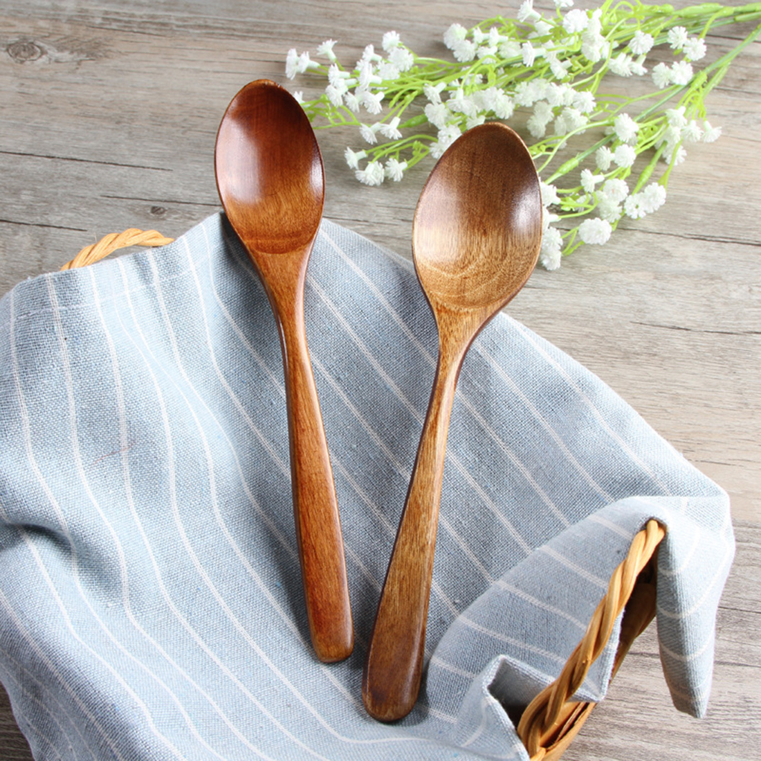 Creative rice spoon Kitchen wooden Spoon cooking ...