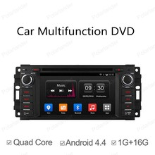 2 Din Universal Android 4.4 Full Touch Panel for Jeep Dodge Chrysler GPS Navigation Car dvd Radio Player Quad Core mirror wifi
