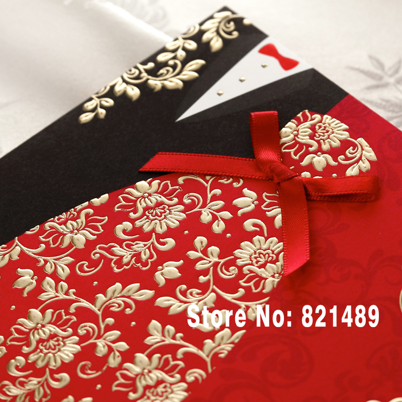 New Wedding Cards Invitation 2015; Chinese Red and Black Wedding ...