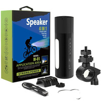 Portable Speaker Bluetooth Column Outdoor Bicycle Flashlight Bass Stereo Wireless Subwoofer Support Handsfree TF Card MP3 Player