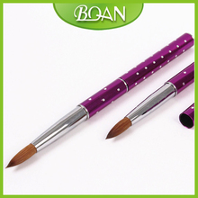 Rtail 1 Pc Metal Handle Pure Kolinsky Sable Brush For Acrylic Nails Size 8#