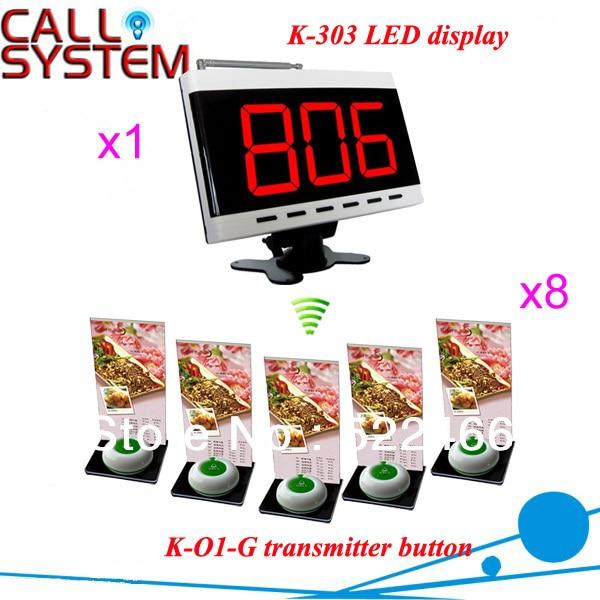 Официант пейджеры для ресторана ; K-O1 зуммер кнопка для вызова и K-303 жк-приемник экрана