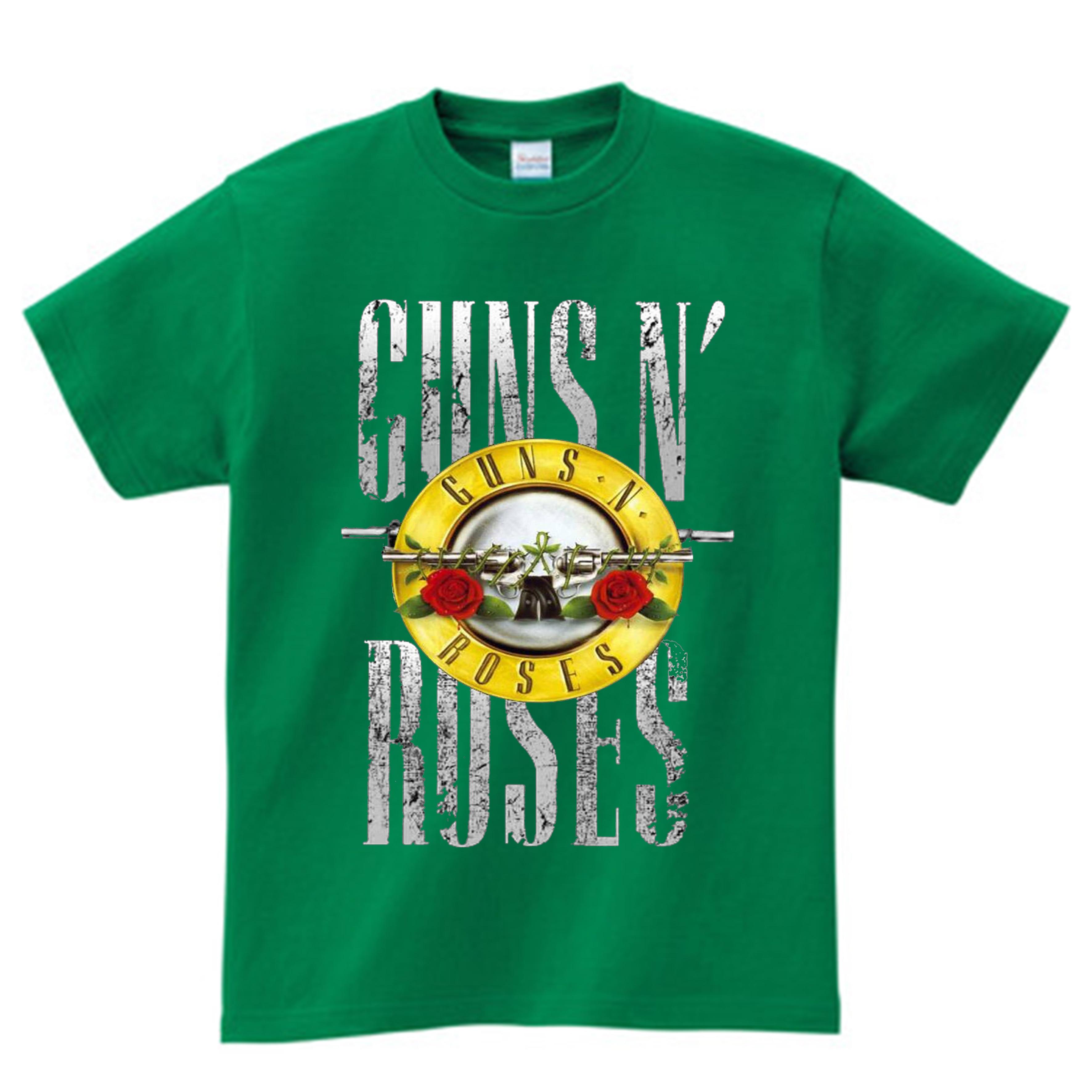 Children Rock Band Gun N Roses Print T shirt Summer Kids Hip Hop Music Tops Baby Boys/Girls t shirt vogue Princess Clothes  NN 4