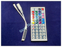 1 комплект 5050 СМД 60 светодиодов/м 5 м светодиодные RGB светодиодные полосы ленты фонарик освещение не водонепроницаемый для RGB полосы + 44 + ключ удаленного 3А мощность адаптер