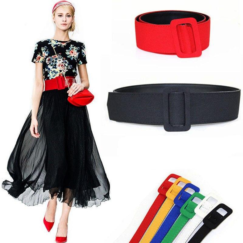 New fashion ladies wide   belts   black red green white cloth coat for girl velvet vintage best dress fabric women's waist   belt