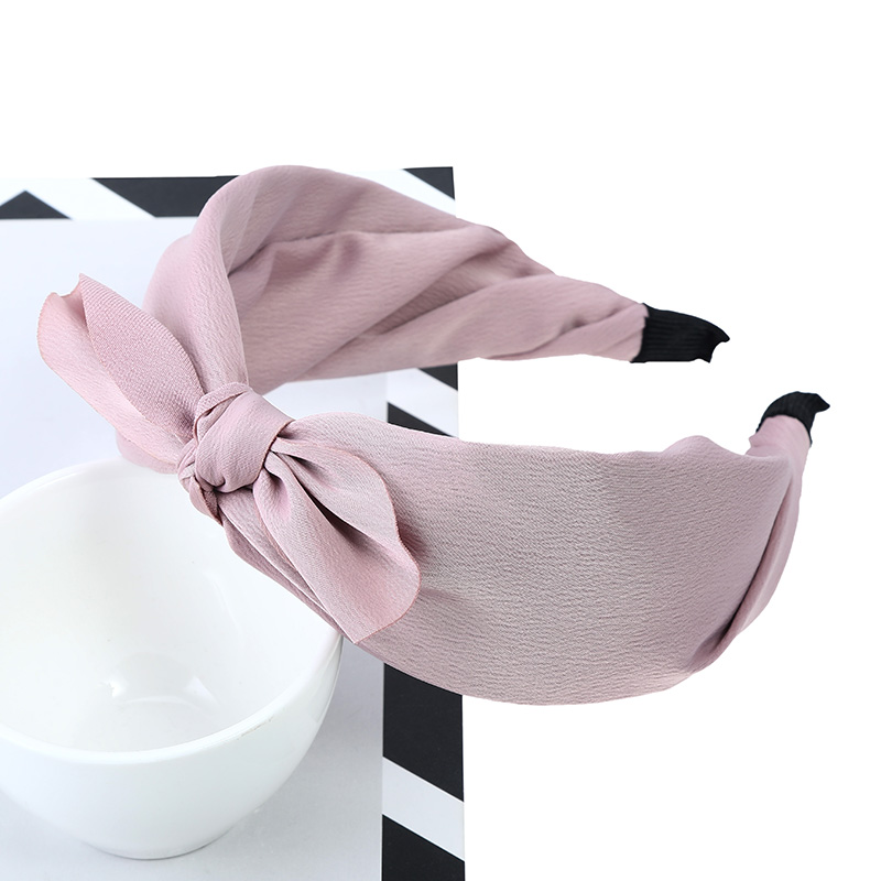 Girls Headwear Solid Color Rabbit Ears Hair Hoop Bow knot Wide Satin Fabric Headbands Bands For Women Hair Accessories Top