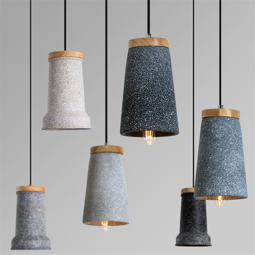 Modern Art Cement E27 Pendant Lights Bedroom Living Room Hotel Lighting Pendant Lamp Home Decoration Lighting Fixtures Luminaria diamond himmeli pendant lights black iron art birdcage pendant lamp suspension for living room bedroom lighting fixtures pl321 page 7