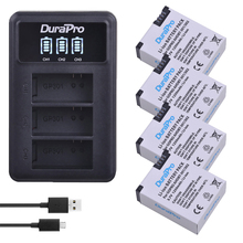 4pc 1250mAh AHDBT 301 AHDBT 302 Rechargeable Battery LED 3 Ports Charger for AHDBT 301 302