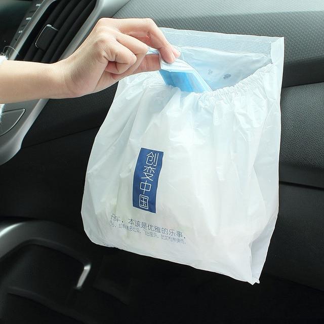 3PCS/lot Rubbish Bin Car Organizer Trash Bag Auto Accessories Car Vehicle  Frame Garbage Bag