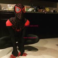 Ultime Miles Morales Spider-Man Costume 3D Impression fullbody vente chaude halloween Spiderman Cosplay costume livraison gratuite