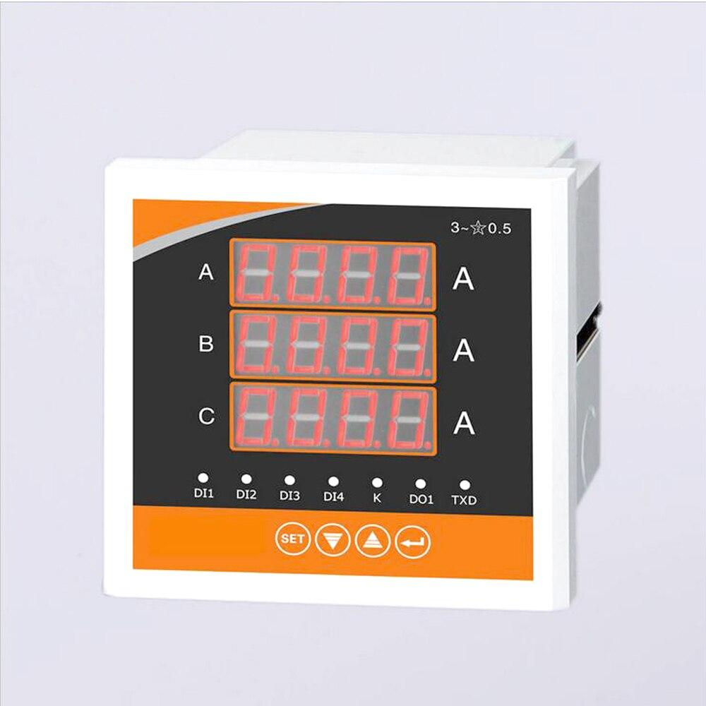 Accumulation d'énergie de compteur multifonction numérique LCD triphasé RS485