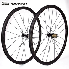 SPOMANN 700C Road Bicycle Wheelset 15k Carbon Clincher Wheels 30mm depth Carbon Cycling Wheel 8/9/10/11 Speeds Hub Parts