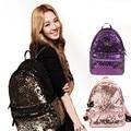 2016 Women's Colorful Crown Canvas Backpacks Girl Lady Student School Travel Bags Mochila escolar Women Bag Paillette Bling Bag