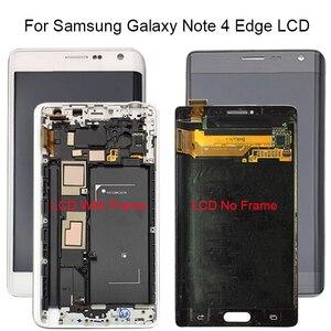 Image 1 - 100% testato Per Samsung Galaxy Note 4 Bordo N915 N9150 N915F LCD Display Touch Screen Digitizer Con Telaio di Montaggio + strumenti gratuiti