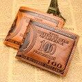 Горячая Бумажник Мужчины Люксовый Бренд Crazy Horse Кожа Vintag Стали Зажим Для Денег Кредитная Карта Оптовая Зажимы Для Денег