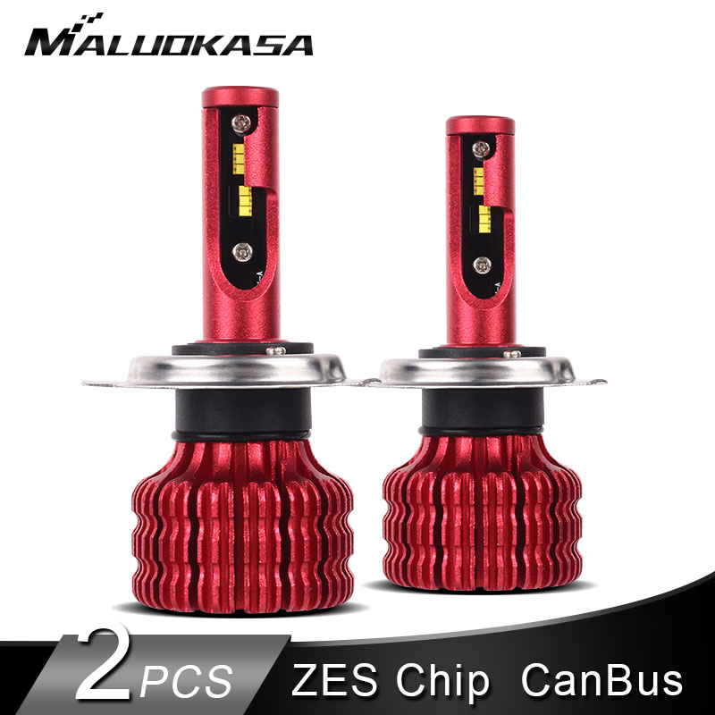 2 pièces led H4 H7 ampoules de phares led Canbus 10000LM/pièces 50 W ZES Puce H8 HB4 H1 H11 led brouillard lumière 12 V 24 V Salut-Lo Phare De Voiture Lumières