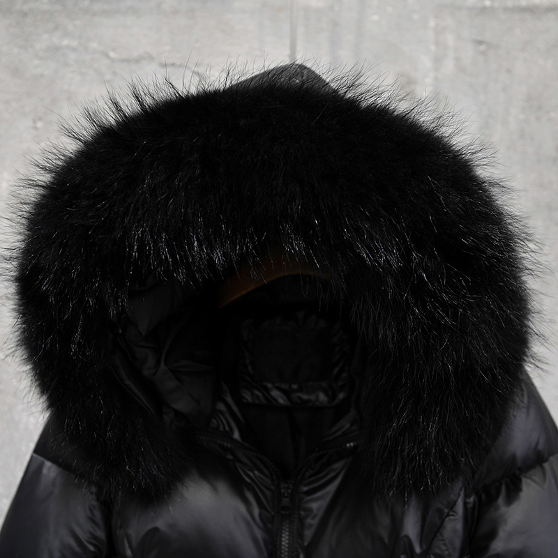 raccoon Canard Collar fake De 01 1 Fourrure Feminina Femmes Fake Fur Jaqueta raccoon 02 Taille Plus Manteau Parkas Duvet Col Veste Réel D'hiver 3xl Épais Chaud Collar Inverno 2 Longue Collar La Collar wpgqBSz
