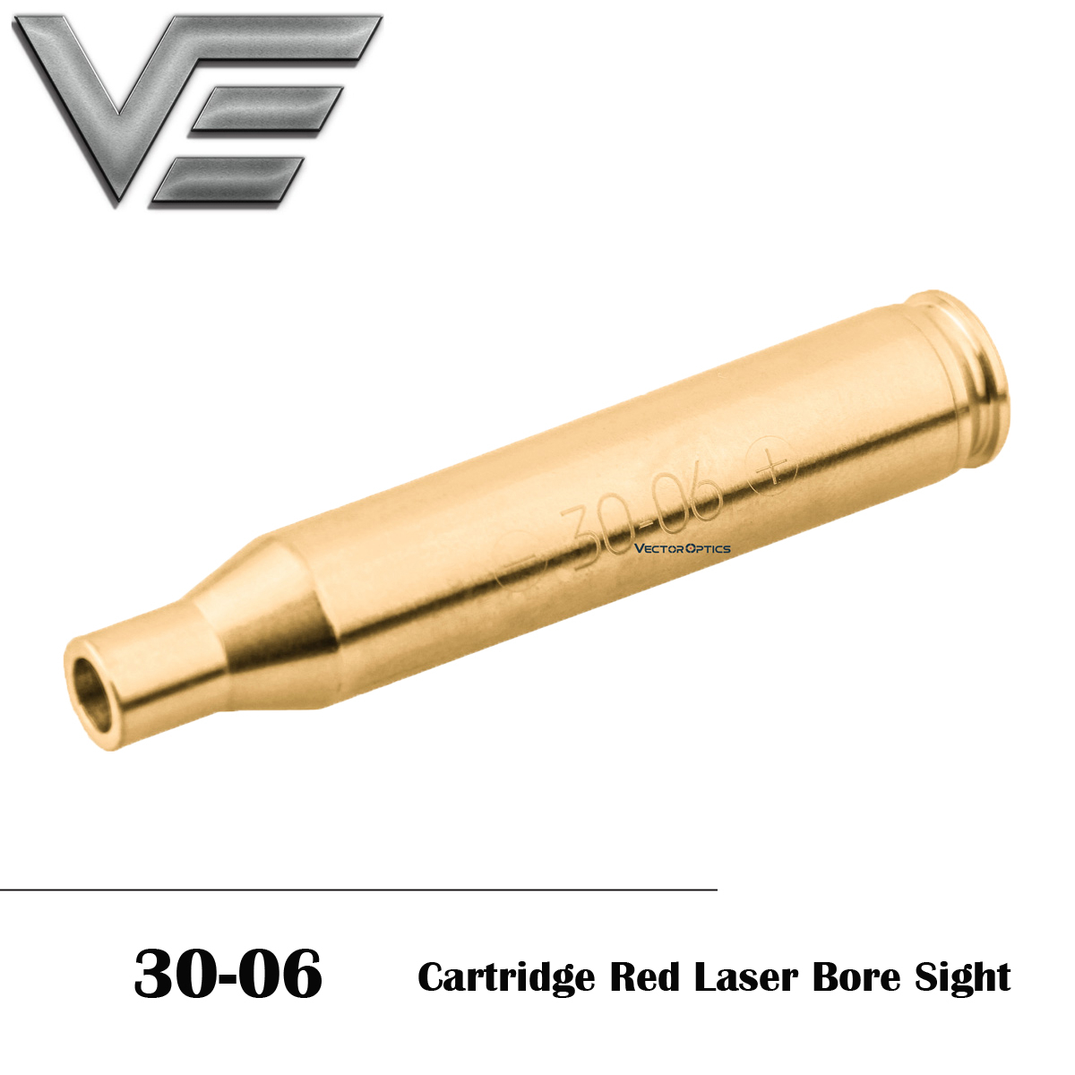 Vector Optics 30-06, 25-06 Rem, 270 Win Cartridge Red Laser Bore Sight Tactical Accuracy Laser Boresighter AG3 Battery For Rifle
