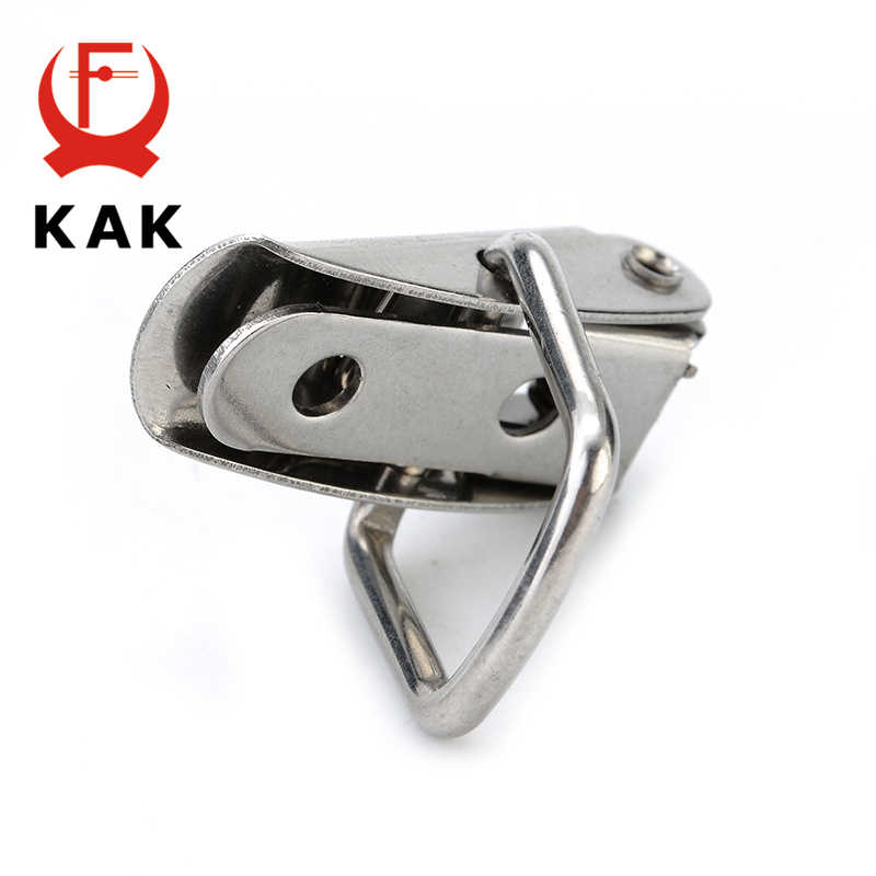 KAK J107 Hardware Cabinet Boxes Spring Loaded Latch Catch Toggle Hasp 46*21 Mild Steel Hasp For Sliding Door Simple Window