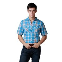 Promotion Freeshipping Mens Shirts Plus Size Western S Sleeve Shirts 100 Cotton High Quality On Sale