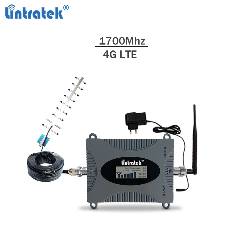 Celular Signal Repeater 4G Lte 1700Mhz AWS Band 4 Cellphone Signal Booster 4g Lte 65dBi Mobile Phone Amplifier Kit #7.2